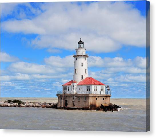 Chicago Light House Canvas Print