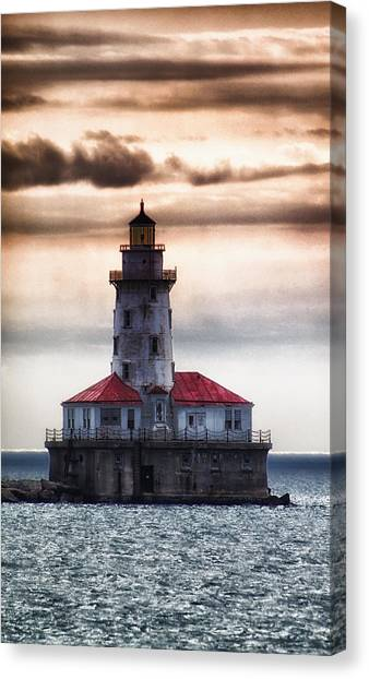 Chicago Lighthouse 3 Canvas Print by Christopher Muto