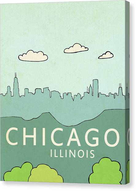 Vintage Chicago Canvas Print - Chicago by Lisa Barbero