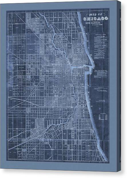 Chicago Map Canvas.Chicago Map Painting By Watercolormaps Chris And Mary Ann