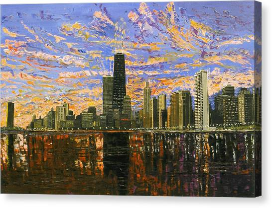 Lake Michigan Canvas Print - Chicago by Mike Rabe