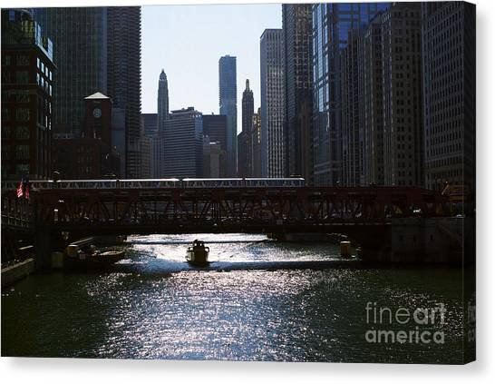 Chicago Morning Commute Canvas Print