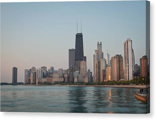 Lake Michigan Canvas Print - Chicago Morning by Steve Gadomski