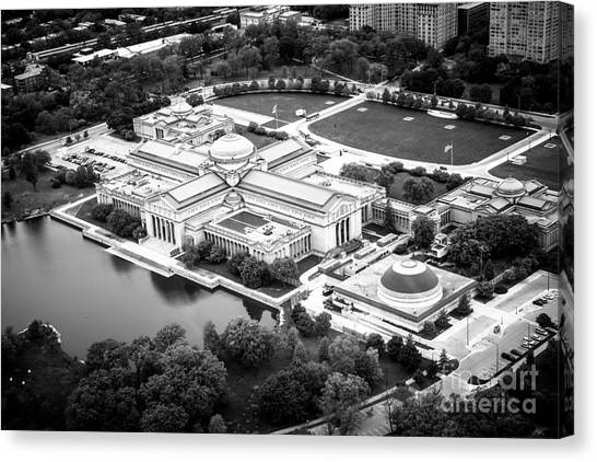 Hyde Park Canvas Print - Chicago Museum Of Science And Industry Aerial View by Paul Velgos