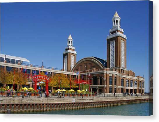 Michigan Canvas Print - Chicago Navy Pier Headhouse by Christine Till