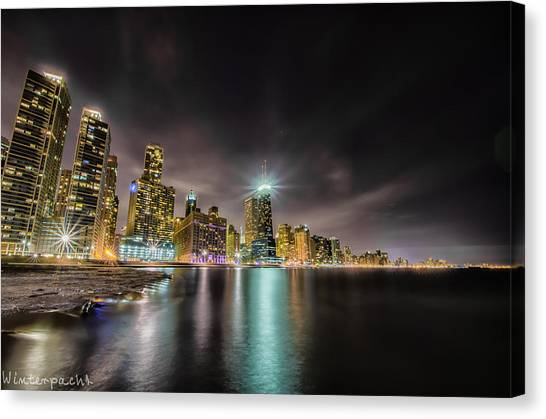 Chicago Nightscape Canvas Print by Raf Winterpacht