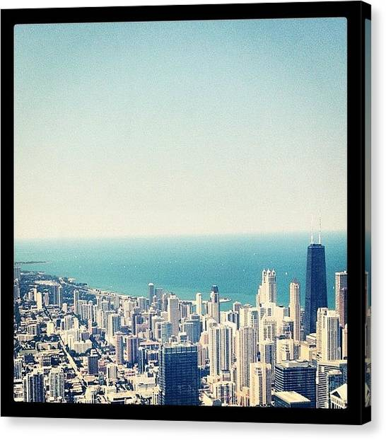 Lake Michigan Canvas Print - Chicago North by Nick Stone