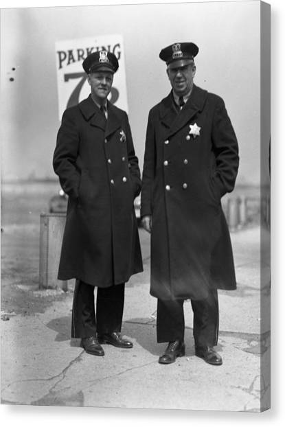 Braces Canvas Print - Chicago Officers by Retro Images Archive