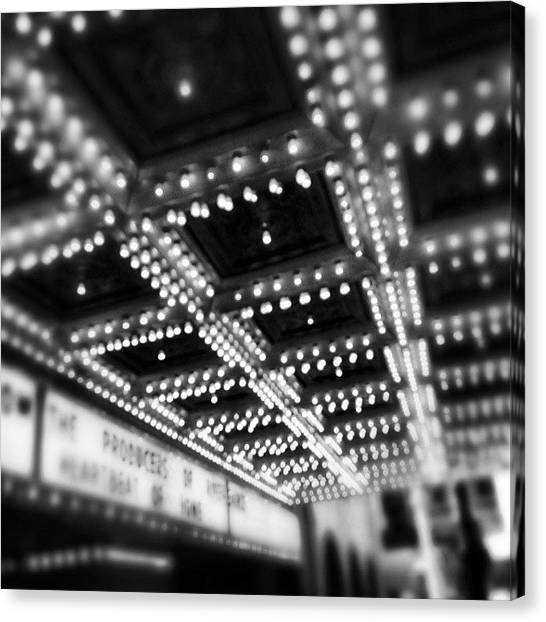 Sears Tower Canvas Print - Chicago Oriental Theatre Lights by Paul Velgos
