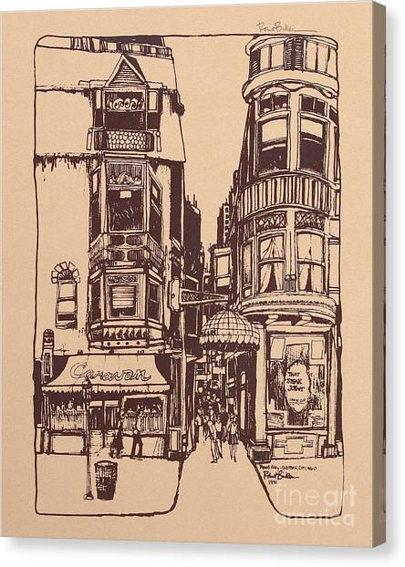 Chicago. Pipers Alley On Wells Street Canvas Print