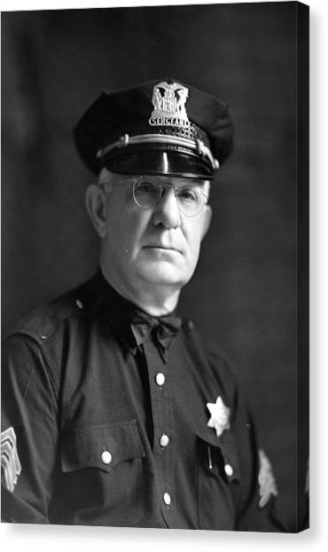 Braces Canvas Print - Chicago Police Sargent by Retro Images Archive