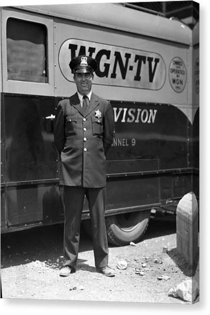 Braces Canvas Print - Chicago Policeman by Retro Images Archive