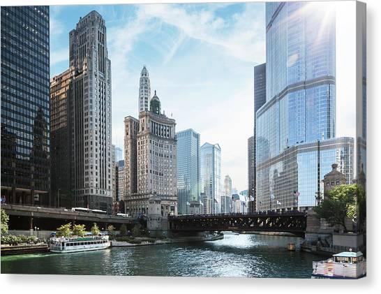 Chicago River Canvas Print by Bjarte Rettedal
