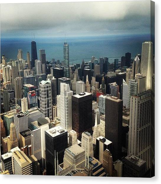 Skyscrapers Canvas Print - Chicago, Second To None by Mike Maher