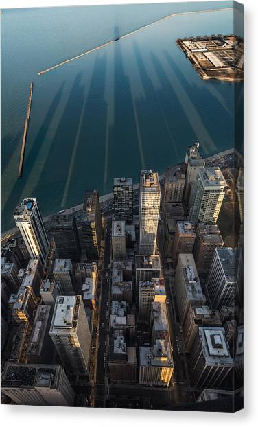Hancock Building Canvas Print - Chicago Shadows by Steve Gadomski