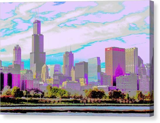 Chicago Skyline 2014 Canvas Print