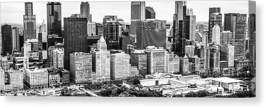 Chicago Skyline Art Canvas Print - Chicago Skyline Aerial Panorama Photo by Paul Velgos
