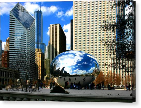 Chicago Skyline Bean Canvas Print