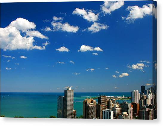 Chicago Skyline Big Sky Lake Canvas Print