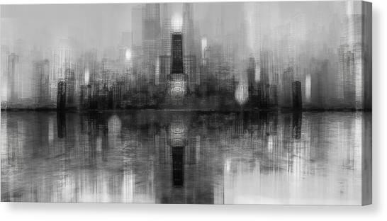 Chicago Skyline Canvas Print - Chicago Skyline by Carmine Chiriac??