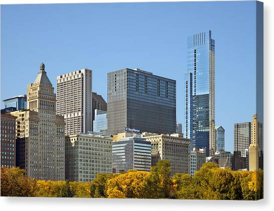 Warner Park Canvas Print - Chicago Skyline From Millenium Park II by Christine Till