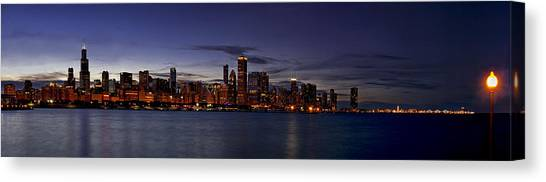 Chicago Skyline Art Canvas Print - Chicago Skyline From The Lake by Andrew Soundarajan