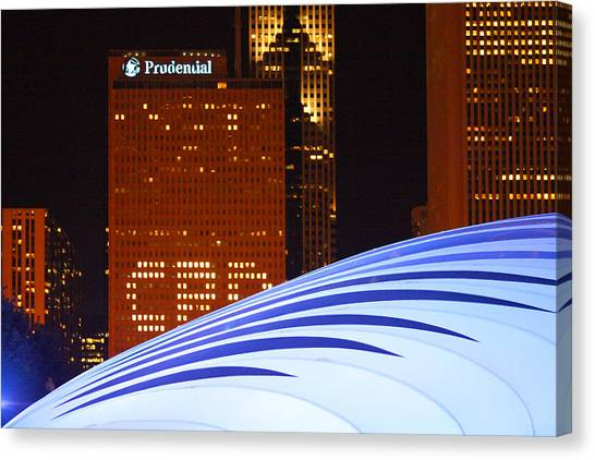 Chicago Skyline Orb Canvas Print