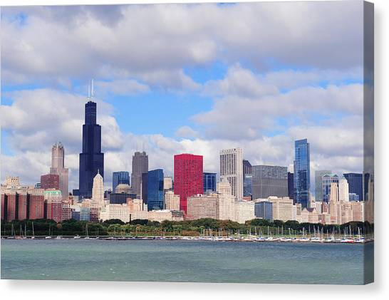 Chicago Skyline Over Lake Michigan Canvas Print