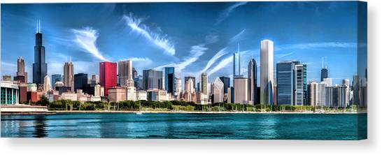 Chicago Skyline Panorama Canvas Print