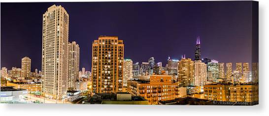 Chicago Skyline Photography October 2014 Canvas Print by Michael  Bennett