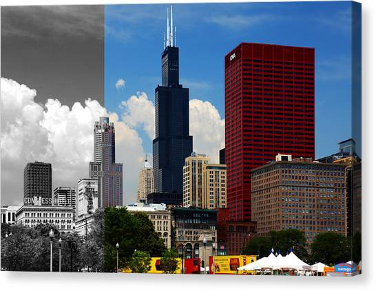 Chicago Skyline Sears Tower Canvas Print
