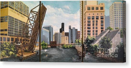 Chicago Skyline Triptych Canvas Print