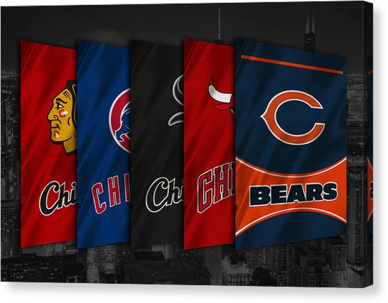 Blackhawk Canvas Print - Chicago Sports Teams by Joe Hamilton