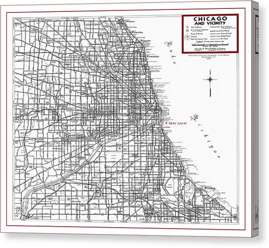 Chicago Map Canvas.Chicago Map Canvas Prints Page 5 Of 10 Fine Art America