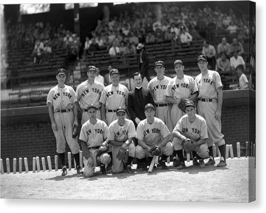 Braces Canvas Print - New Yorks Team by Retro Images Archive
