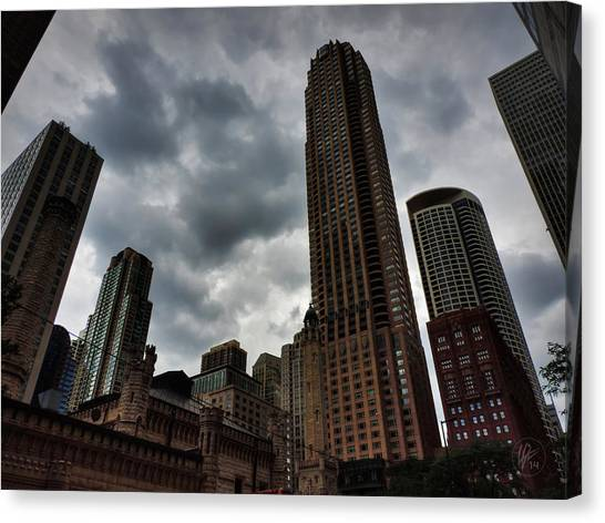 Mvc Canvas Print - Chicago - The Mag Mile 002 by Lance Vaughn