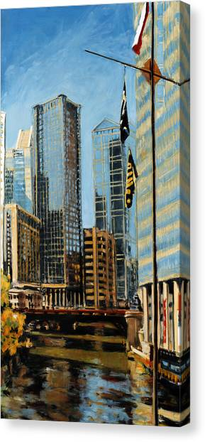 Chicago - The River From The East Canvas Print