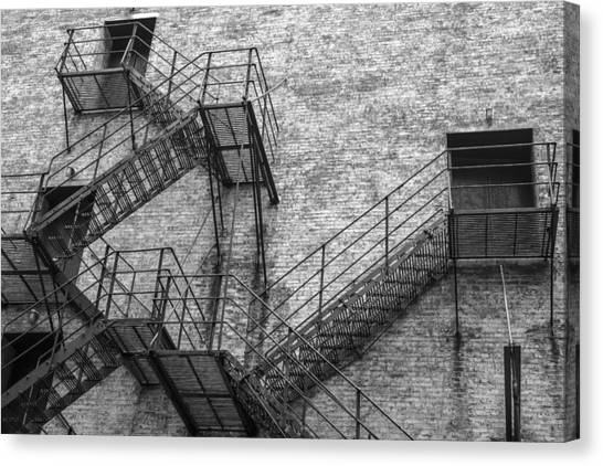 Chicago Fire Canvas Print - Chicago Theater Fire Escape  by John McGraw