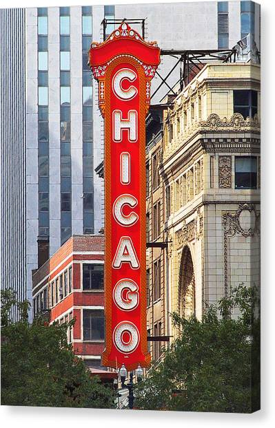 Chicago Theatre - A Classic Chicago Landmark Canvas Print