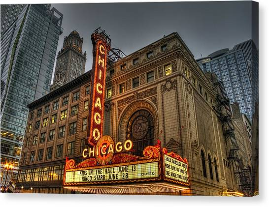 Chicago Theatre Hdr Canvas Print