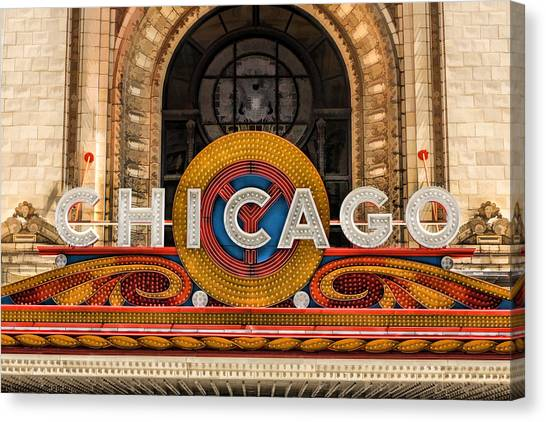 Chicago Theatre Marquee Sign Canvas Print