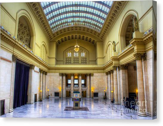 Amtrak Canvas Print - Chicago Union Station by Twenty Two North Photography