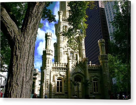 Chicago Water Tower Castle Canvas Print
