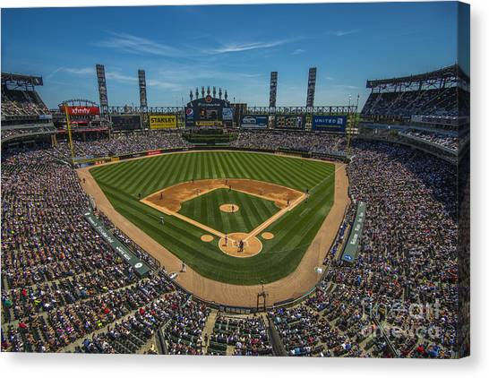 Chicago White Sox Canvas Print - Chicago White Sox 8677 by David Haskett II
