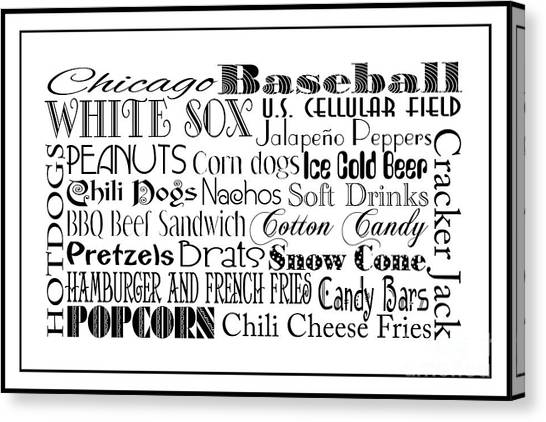 Chicago White Sox Canvas Print - Chicago White Sox Game Day Food 3 by Andee Design