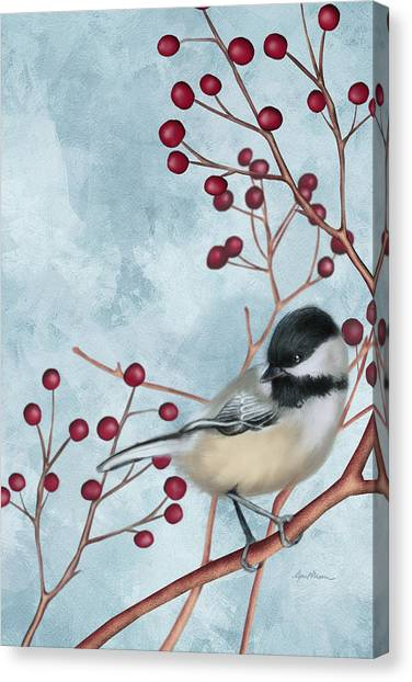 Chickadees Canvas Print - Chickadee I by April Moen