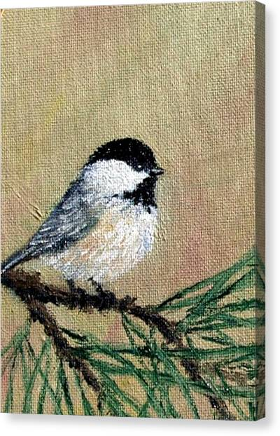 Chickadee Set 17 Bird 1 Detail Print Canvas Print