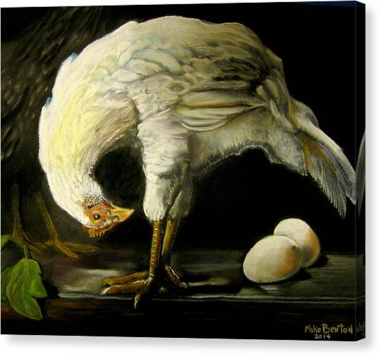 Chicken And Eggs Canvas Print