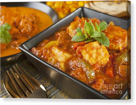 Selection Canvas Print - Chicken Jalfrezi Curry by Colin and Linda McKie