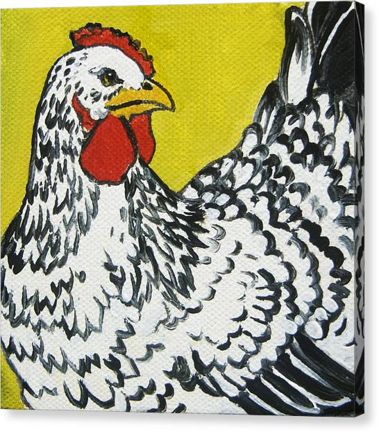 Chicken Farms Canvas Print - Chicken Little 1 by Tracie Thompson
